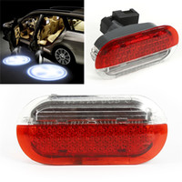 Wholesale vw golf white resale online - Car Door Light warning light Red White for VW Beetle Golf Jetta Polo Car Led Lamp Light Accessories car styling