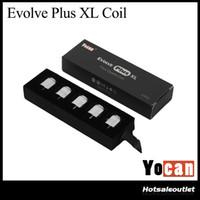 Wholesale E W Coil - Authentic Yocan Evolve Plus XL Coil Adopts QUAD Coil Technology W  4 Quartz Rod Coil for Evolve Plus XL Kit E-cig Evaporator
