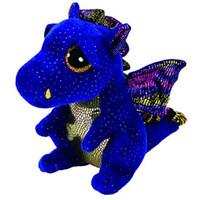 """amor encantadores bebe al por mayor-Ty Beanie Boos 6 """"15 cm Saffire Dragon Plush Regular Animal de peluche coleccionable suave muñeca de juguete"""