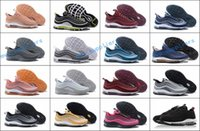 Wholesale Lowest Brand Max - New MaXes 97 UL 17 SE Running Shoes Designer Sneakers Brand 97s 97 Ultra White Grey Metallic Gold Olive Training Sports Shoes US 7-12