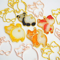 ювелирные изделия из смолы оптовых-10pcs Dog cat  ass Metal Frame Pendant Gold Charm Bezel Setting Cabochon Setting UV Resin Charm Jewelry Making Findings