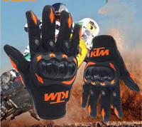 motorrad-rennhandschuhe großhandel-KTM Motorrad fahren Offroad-Rennen Straßenflutschutz bruchsichere Handschuhe KTM Kawasaki Motorradhandschuhe Luva Motoqueiro Guantes