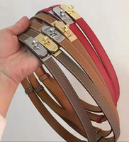 Wholesale xl leather bag - Togo Epsom Top Quality Light Brown Ostrich Leather Bag Real Leather Belt