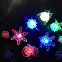 Wholesale luminous buttons - Cartoon Crystal Night Lamp Push Button Type Electronic Candle Lights Acrylic Luminous LED Light Hot Sale 1 52wd B