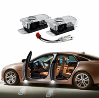 carro led logotipo projetor audi venda por atacado-2 PC Carro LEVOU Luz de Advertência Da Porta bem-vindo Logo Projetor Para Audi A4 A5 A6 B5 B6 Q7 Q3 Q5 Q7 RS quattro S linha C5 C6 tt sline A3 A7