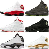 Wholesale mens gold dress shoes online - Mens Basketball Shoes Bred Black True Red History Of Flight DMP Discount Sports Shoe Men Designer Dress Sneakers S Black Cat