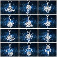 Wholesale art favors online - 12 Constellations Classic Necklace Pendant Female Lovers Confidante Girl Friend Charm Arts Crafts Wedding Favors For Guest Gift cy bb