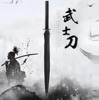 dantel ücretsiz nakliye işçiliği toptan satış-Serin Moda Japon Samuray Kılıcı Şemsiye Katana Şemsiye Yaratıcı Yağmur Dişli LX1817