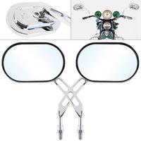 espelho modificado venda por atacado-2 pcs 10mm Modificado Universal Motocicleta Espelho Retrovisor Espelhos Laterais para Motocicleta MFF_20Z