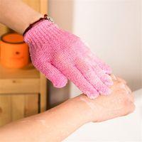 productos de limpieza corporal al por mayor-10 unids / lote Body Cleaning Guante de Baño Scrubber Wash Skin Glove Productos de Baño Accesorios Creativos 2016 Nuevo Enviar Colores Aleatorios