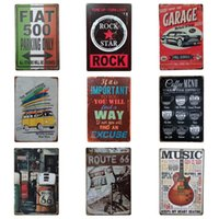 Wholesale graffiti art posters resale online - Graffiti Design Tin Sign Street Rock Retro Style Tin Poster For Corridor Suspension Art Iron Painting Hot Sale cm ZB