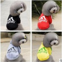 Wholesale Dog Clothes Size Medium - DOGBABY Pet Dog Clothes Hoodies Autumn Winter Cotton Dogs Coat Jacket for Small Dogs & Cats Four Legs Warm Pet Hoodies Size XS - XXL
