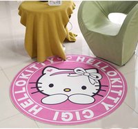 Wholesale diy baby room decor for sale - Group buy fashion Round Carpet For Baby Kids Bedroom Floor Decor Mats Non slip Living Room Cartoon Matting Area Rugs Household Use Home Textiles Water