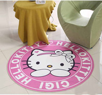 kinderbereich teppiche großhandel-Mode Runde Teppich Für Baby Kinder Schlafzimmer Boden Decor Mats rutschfeste Wohnzimmer Cartoon Matting Area Teppiche Haushaltsgebrauch Heimtextilien Wasser