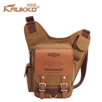 Wholesale kaukko bags resale online - KAUKKO New Hot Sales KAUKKO vintage canvas bag Men Shoulder Messenger Cross Body Bag Sling Pack for Mens Business Chest Bag