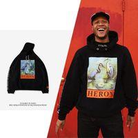 new york hoodies hommes achat en gros de-New York mode haute qualité style chinois Heron Preston hommes femmes rue luxe coton à capuche décontracté hiver manches longues grue à capuche à capuche