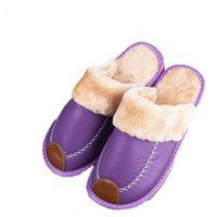 dong animal al por mayor-Invierno en zapatillas de algodón hogar de la familia plataforma de patinaje cálido zapatillas de cuero de felpa confinadas qiu dong el día