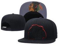 Hombres color negro Vintage Chicago Blackhawks Snapback Hat Logo bordado  Deporte NHL Hockey sobre hielo ajustable Gorras planas Gorras de béisbol 56ea90fb244