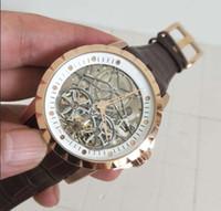 relógio oco branco venda por atacado-Melhor versão de Alta qualidade RD assistir 45mm branco Oco dial strp Ásia Ásia Automático Mens Watcha