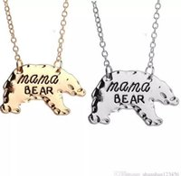 Wholesale mama jewelry resale online - DHL Mama Bear Necklace Gold Silver Mother Bear Pendant Accessory Mothers Day Gift For Mom Fashion Jewelry