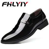 ботинки оптовых-Spring Autumn Men Formal Wedding Shoes  Men Business Dress Shoes Men Loafers Pointy Shoes Chaussures Hommes