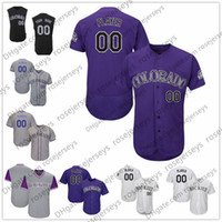 Wholesale Colorado Shorts - Custom Colorado Baseball Jerseys Mens Womens Youth Kids Gray Road Purple White Black Personalized Stitched Any Your Own Name Number S,4XL