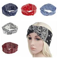bohem şapkalar toptan satış-6 Renkler Sevimli Yay Hairband Türban Düğümlü Tavşan Saç Bandı Bandı Bohemian Çiçek Dantel Kafa Şapkalar Parti Favor CCA10394 120 adet