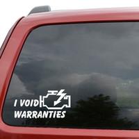 "void stickers UK - Car Styling For I Void Warranties JDM Car Window Decor Vinyl Decal Sticker- 6"" Wide White"