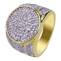 ingrosso anello di prezzo d'argento della porcellana 925-Anelli Hip Hop per uomo con anello in oro placcato in oro placcato in oro 18 carati