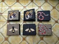 Wholesale leather men wallet pattern - New Luxury Brand Women Wallet Purse Fashion Designer Animal pattern High quality Leather Men Short Wallet Card Holders