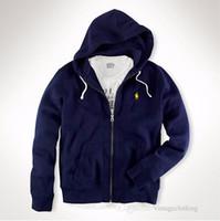 uzun hırka ceketi toptan satış-Sonbahar Erkekler Fermuar Hırka Siyah Gri Kapşonlu Hoodies Moda Uzun Kollu Palto Ceket Tasarımcı Tişörtü Boyutu S-2XL