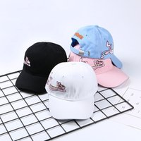Wholesale snapback army casual online - Fashion Female Baseball Caps New Summer Trend Couple Pink Panther Cap Outdoor Sunscreen Visor Snapback Hot Sale cj aa