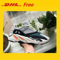 Wholesale Mens Shoes Dhl - DHL FREE!!! Kanye West Wave Runner 700 Boots Mens Women Basketball Shoe Athletic Sport Shoes Running Sneakers Shoes Eur 36-45 with Box
