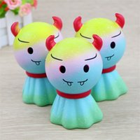 Wholesale Toy Demon - Jumbo Kawaii Squishy Fine Day Demon Doll Soft Slow Rising Squishies Bread Squeeze Kid Toy Anti Stress PU Foam Gift 15 5hb YY