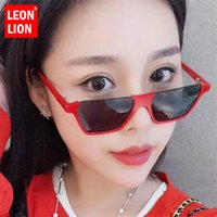 LeonLion 2018 Simple Semi-Rimless Sunglasses Women Alloy Mirror Retro Metal  Glasses Vintage Lunette De Soleil Femme UV400 e678bfb9cafb