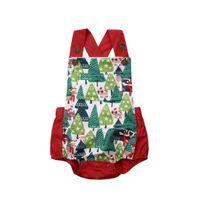 комбинезон без спинки оптовых-Xmas Infant Baby Boys Girl Sleeveless Backless Jumpsuit Bodysuit Playsuit Outfit Set Size 0-18M