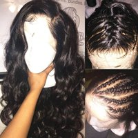 Wholesale unprocessed virgin silk lace front wigs for sale - Group buy Silk Top Body Wave Full Lace Wigs Lace Front Wigs Baby Hair Brazilian Unprocessed Virgin Human Hair Wig For Black Women