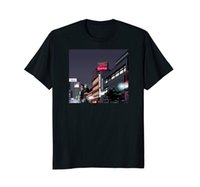 tallas de la camiseta de la juventud al por mayor-Tokyo Japan Night Neon Signs City 8 - Bit Pixel Art T Shirt Cuello redondo para jóvenes Camisetas personalizadas Top Tee Punk Tops Tamaño más