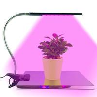 luzes de crescimento hidropônico vermelho azul venda por atacado-LED Cresce A Luz 10 W 18LED Planta Lâmpada Luzes Ajustáveis 3 Modos Regulável 2 Níveis Vermelho Azul para Plantas de Interior Hidropônico