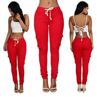 Wholesale Womens Jeans Xl - Women girl ladies Sexy Clothes Leggings Pants Trousers Fashion Skinny Pencil Denim pants Womens Leggings Jeans
