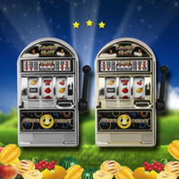 Wholesale focus kid - Mini Casino Jackpot Fruit Slot Machine Moneybox Game Kid Fidget Finger Focus Toys Novelty Games Hand Spinner Stress Relief Toy FFA162 150PCS