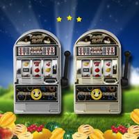 Wholesale machine fruit - Mini Casino Jackpot Fruit Slot Machine Moneybox Game Kid Fidget Finger Focus Toys Novelty Games Hand Spinner Stress Relief Toy FFA162 150PCS