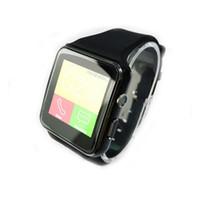 assista o slot para cartão sim venda por atacado-Smartwatch tela curvo x6 smart watch pulseira telefone com slot para cartão sim tf com câmera para android smartwatchox