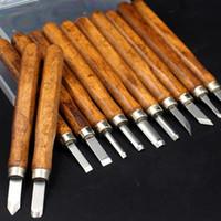 Wholesale carved knife wood online - 12pcs Professional Carving Knife Set Wood Carving Knife Carving Knife Kit Tools for Beginner