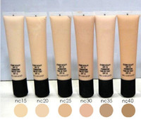 Wholesale nw powders for sale - Group buy Makeup SPF Foundation Liquid Long Lasting High Quality Liquid Foundation Face Concealer NC NW