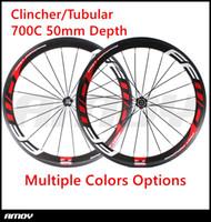 ruedas ud al por mayor-Envío gratis FFWD ruedas 700C F5R 50mm wheelset de bicicleta NOvatec hubs lleno carbono ruedas de bicicleta de carretera