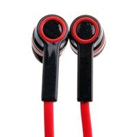 ingrosso auricolari auricolari l-Promozione! Auricolari In-Ear Rosso Mini Auricolare Wired L Bending Auricolare per iPod MP3 MP4 MP5 NI5L