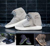 обувь для танцев оптовых-750 Kanye New Мужская Женская Верхняя Флагманская Обувь Черный Серый Шоколад Glow Кроссовки Мода Открытый Дизайнерская Обувь Повседневная Спортивные Сапоги