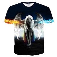 hızlı kuru tişörtler kadınlar toptan satış-O-Boyun Polyester Büyük metre Gelenler Erkek Kadın 3d T-shirt PrintThe kafatası Hızlı Kuru Yaz Tops Tees Marka Tişörtleri