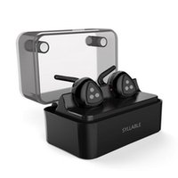 Wholesale syllable wireless bluetooth headphones - SYLLABLE D900MINI wireless Bluetooth headset with mobile power charger, bilateral S headset earphone headphone